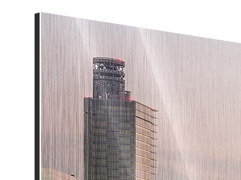 Metallic-Bild 4-teilig Skyline Das Lichtermeer von Tokio