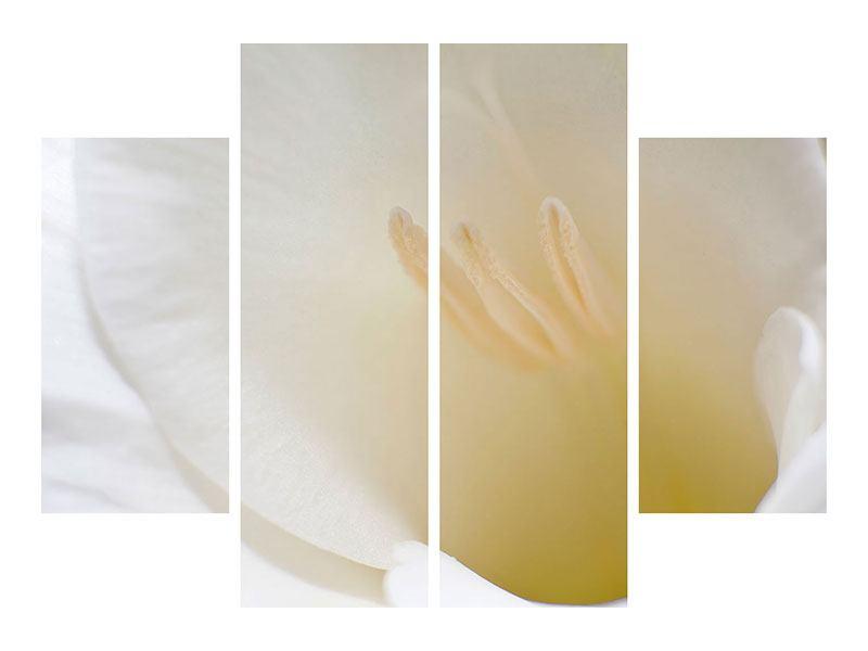 Metallic-Bild 4-teilig In einer Blüte