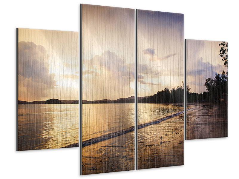 Metallic-Bild 4-teilig Das Ufer