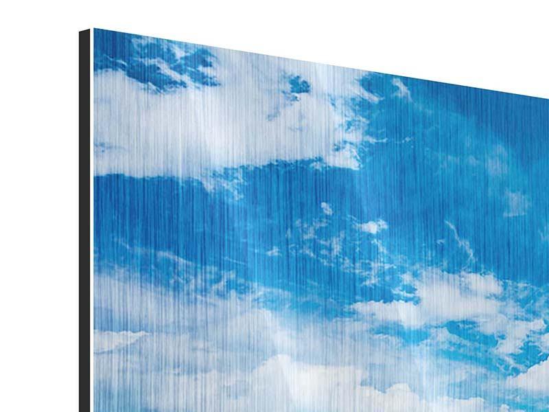 Metallic-Bild 4-teilig Himmel und Wasser
