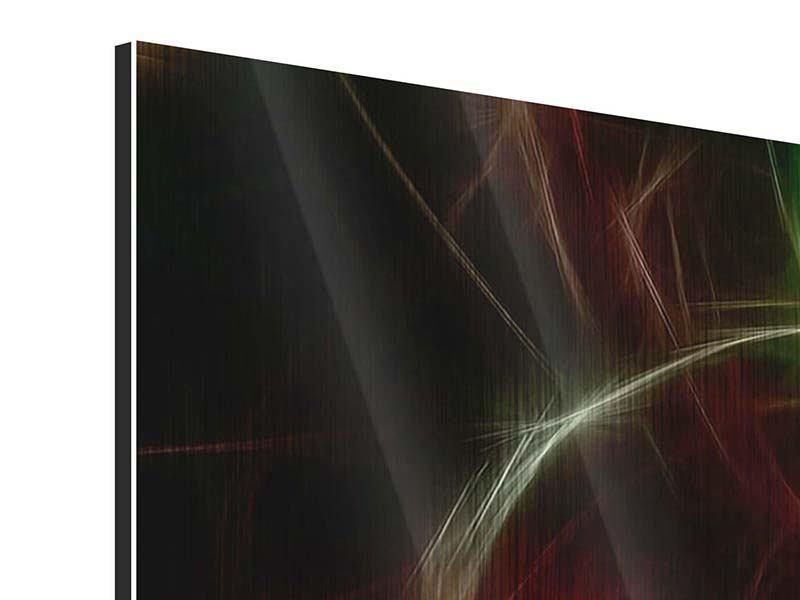 Metallic-Bild 4-teilig Fraktales Lichtspektakel