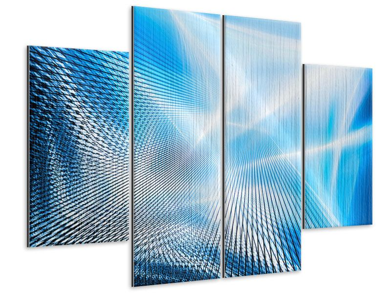 Metallic-Bild 4-teilig Laser