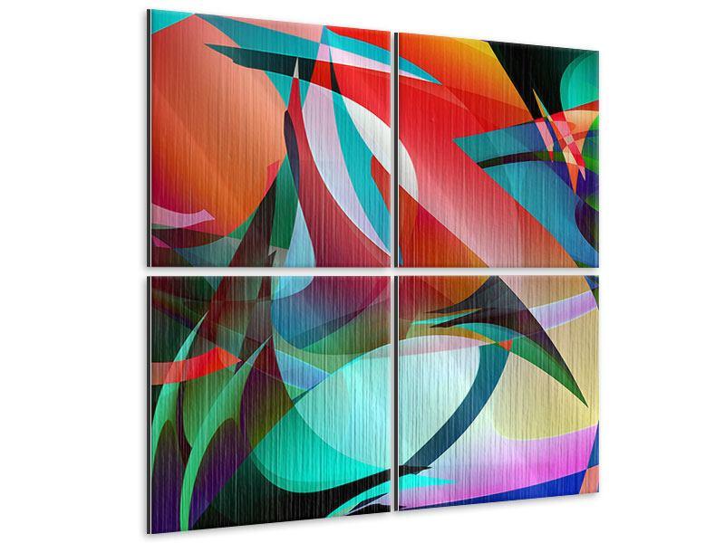 Metallic-Bild 4-teilig Paint
