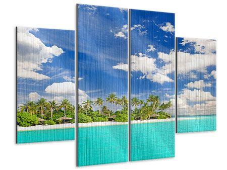 Metallic-Bild 4-teilig Meine Insel