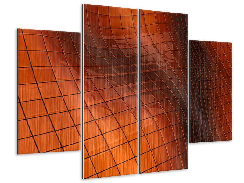 Metallic-Bild 4-teilig 3D-Kacheln