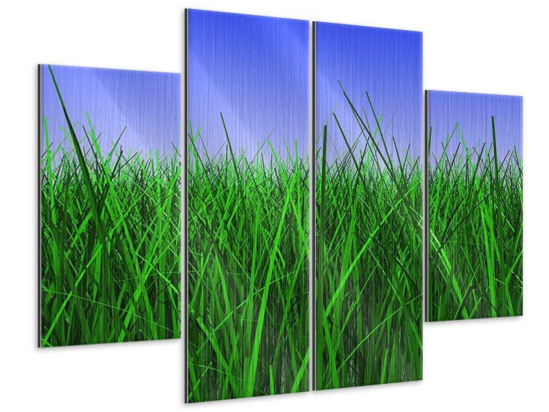 Metallic-Bild 4-teilig Im Gras