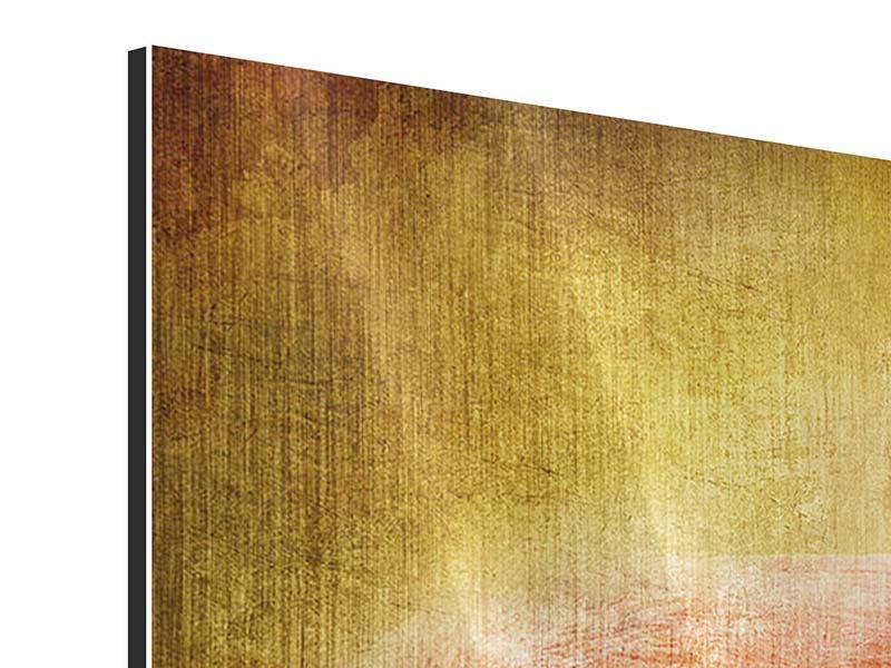 Metallic-Bild 4-teilig Ara im Retrostyle