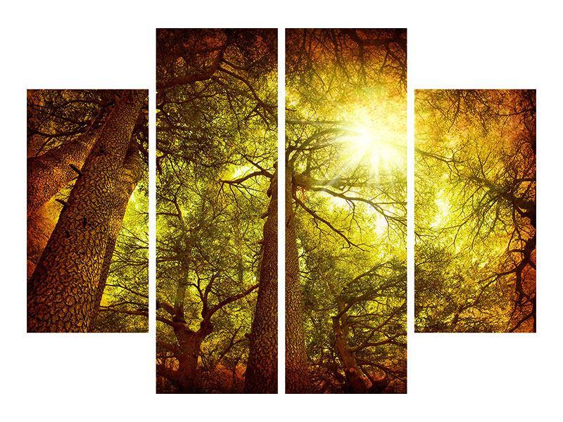 Metallic-Bild 4-teilig Cedar Baum