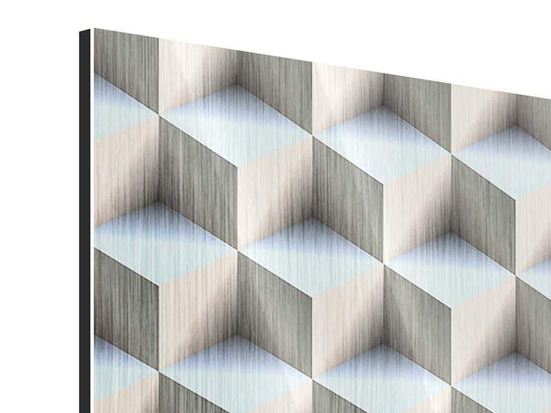 Metallic-Bild 4-teilig 3D-Polytop