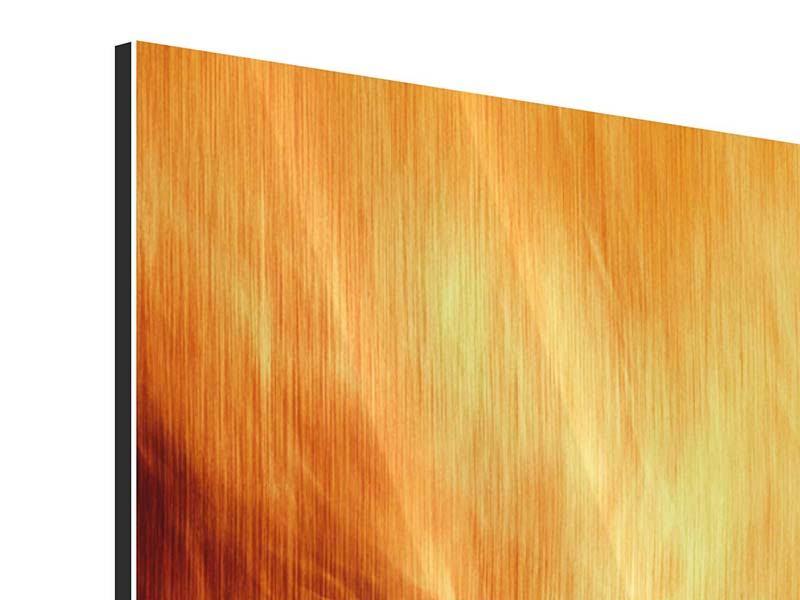 Metallic-Bild 4-teilig Flammen