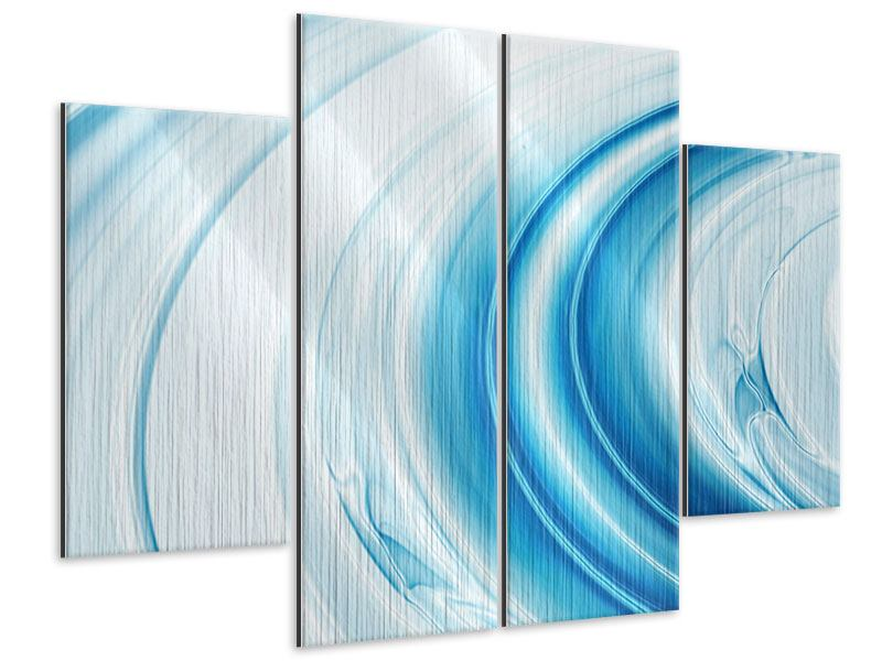 Metallic-Bild 4-teilig Abstraktes Glas