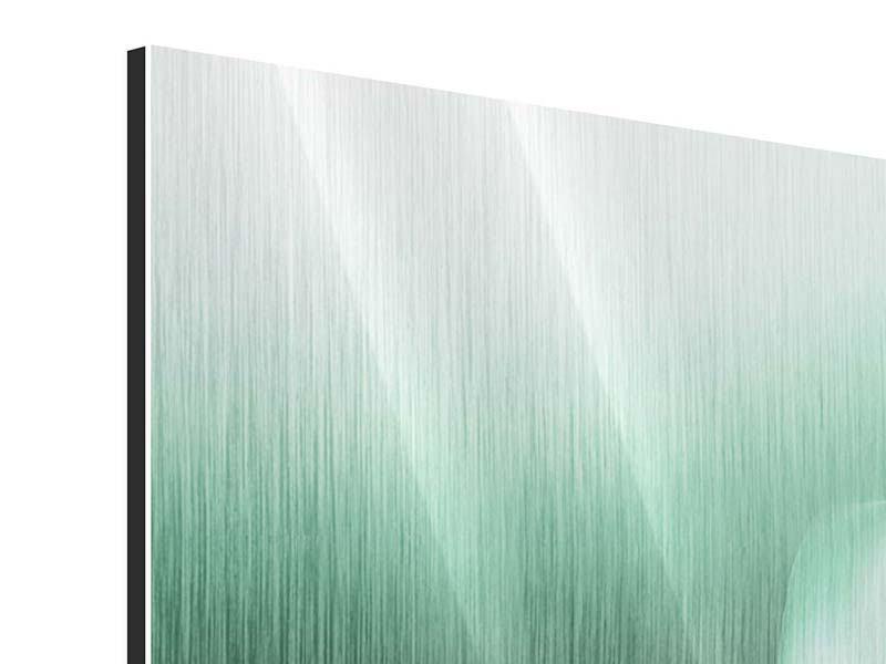 Metallic-Bild 4-teilig Abstrakt Tuchfühlung