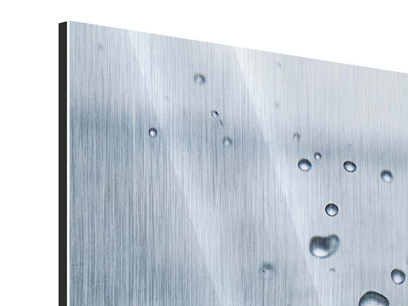 Metallic-Bild 4-teilig Wassertropfen