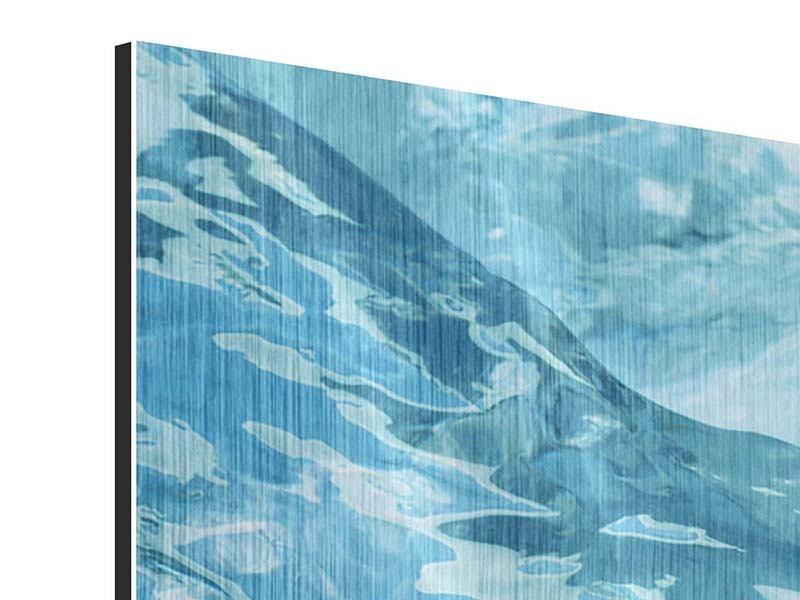 Metallic-Bild 4-teilig Cooler Eislook