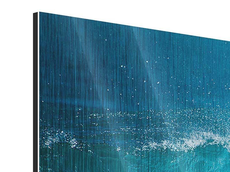 Metallic-Bild 4-teilig Die perfekte Welle