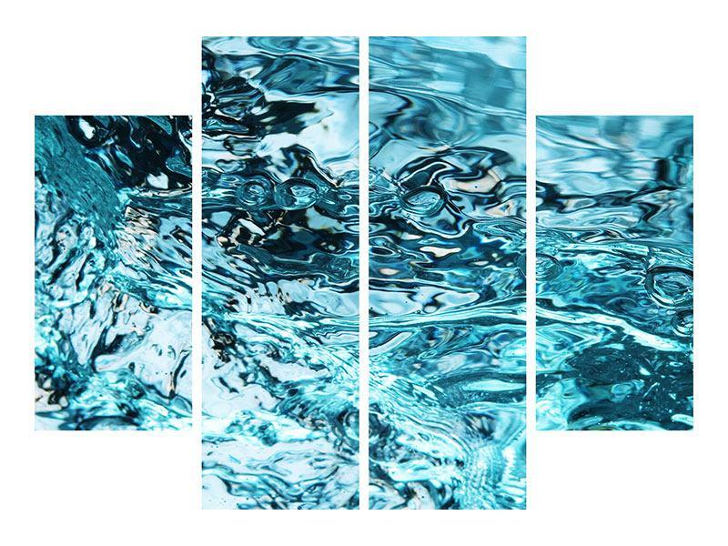 Metallic-Bild 4-teilig Schönheit Wasser