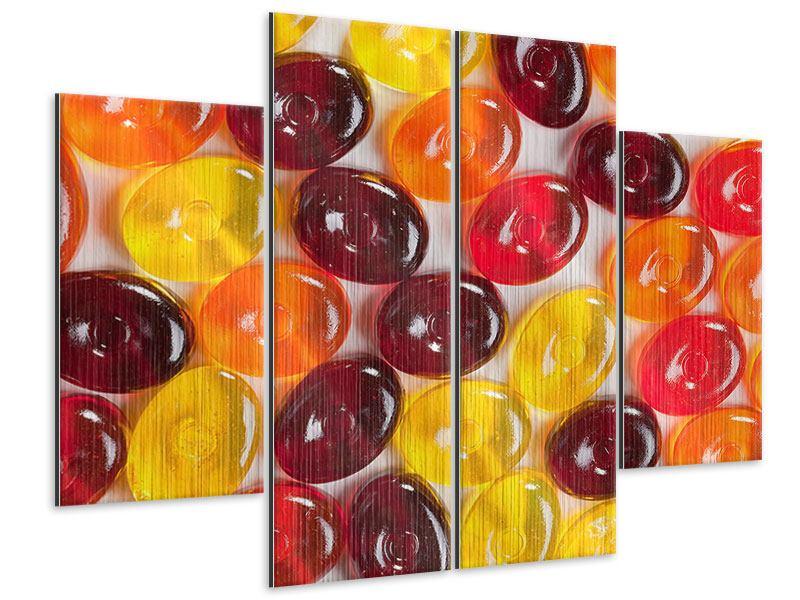 Metallic-Bild 4-teilig Bonbons