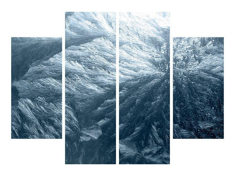 Metallic-Bild 4-teilig Eis