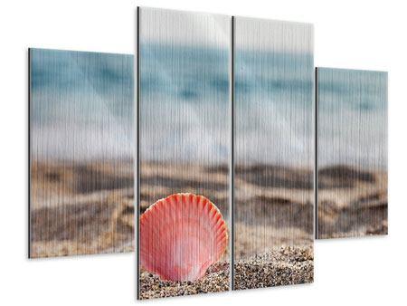 Metallic-Bild 4-teilig Die Muschel