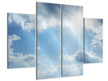Metallic-Bild 4-teilig Himmelshoffnung