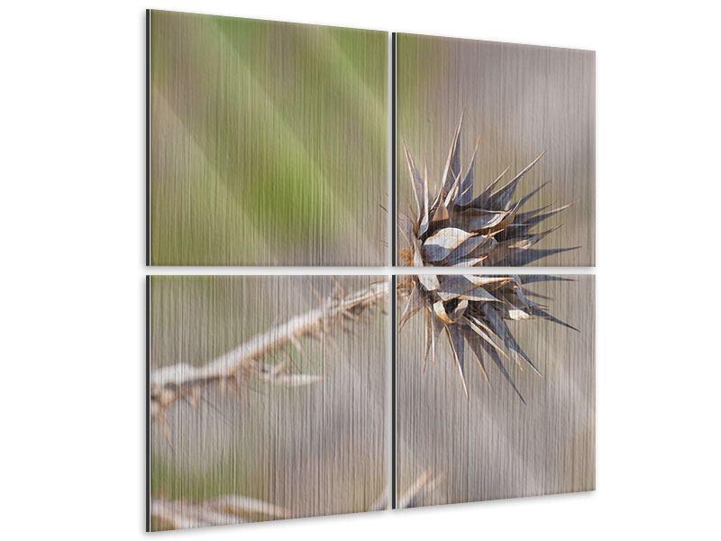 Metallic-Bild 4-teilig Die Wüstenblume