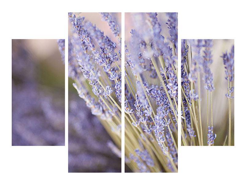Metallic-Bild 4-teilig Lavendel XXL