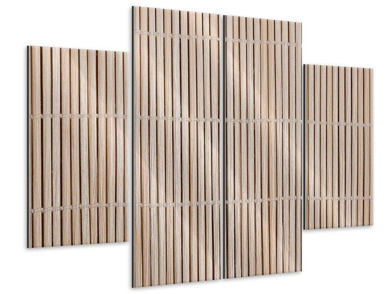 Metallic-Bild 4-teilig Lucky Bamboo