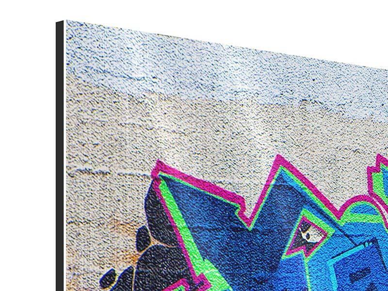 Metallic-Bild 4-teilig Graffiti NYC