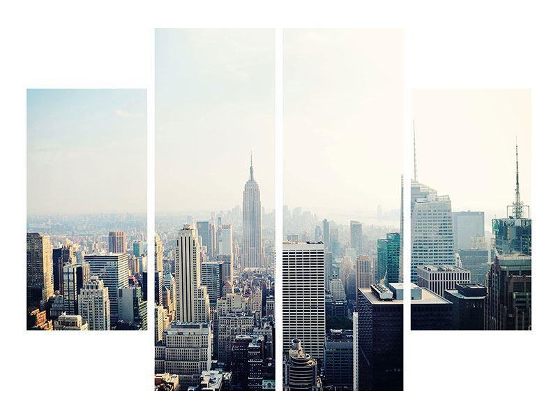 Metallic-Bild 4-teilig NYC