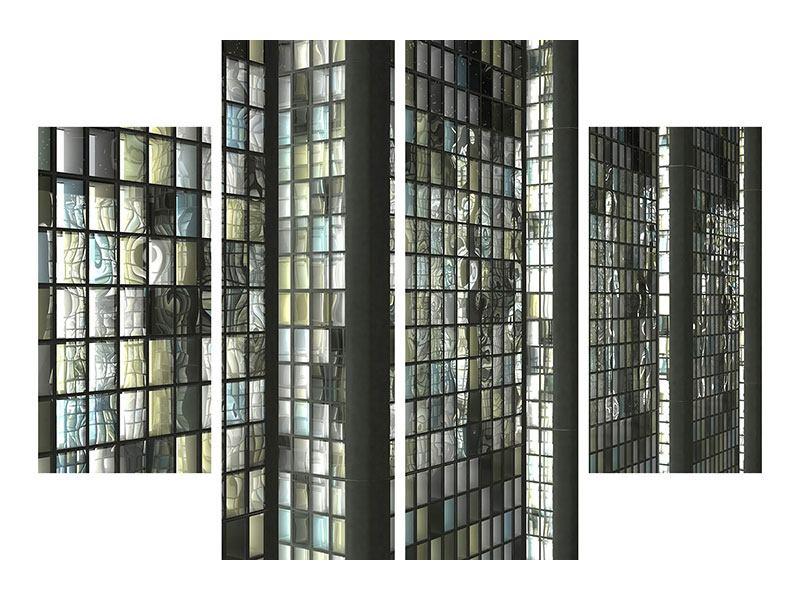 Metallic-Bild 4-teilig Windows