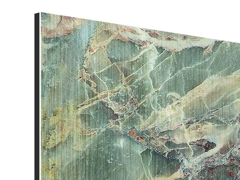 Metallic-Bild 4-teilig Marmor