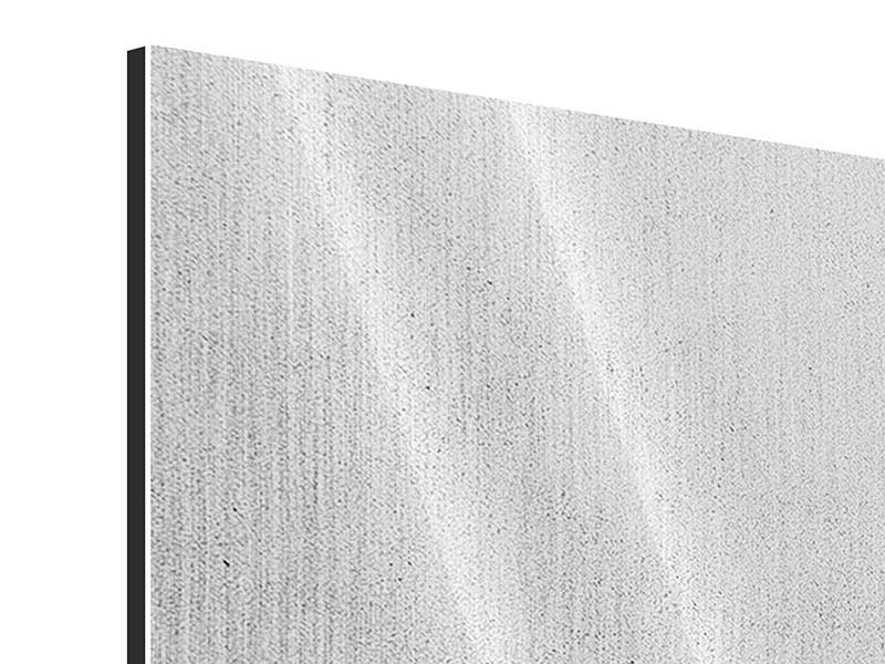 Metallic-Bild 4-teilig Beton in Hellgrau