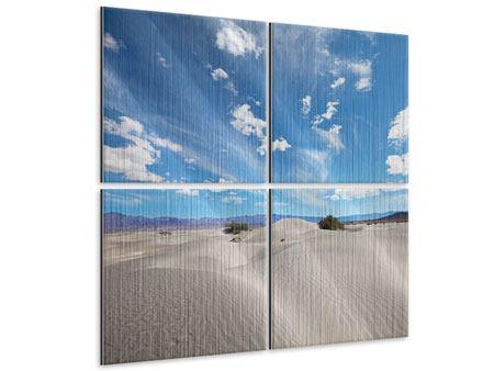 Metallic-Bild 4-teilig Wüstenlandschaft