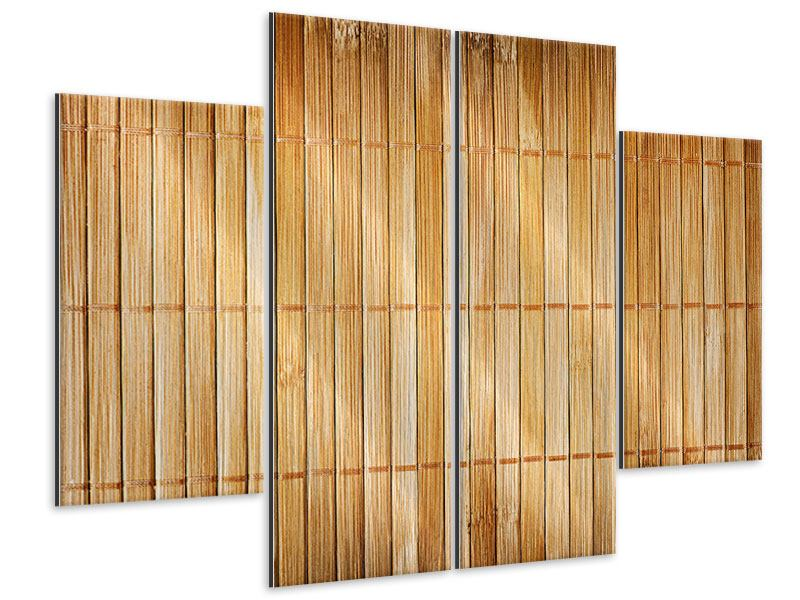 Metallic-Bild 4-teilig Bambusrohre