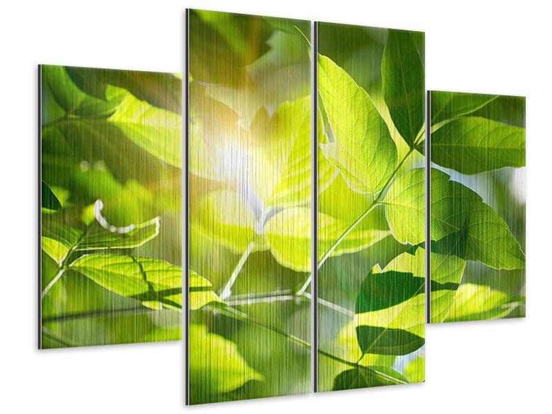 Metallic-Bild 4-teilig Es grünt so grün