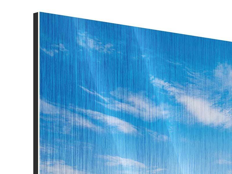 Metallic-Bild 4-teilig Blaue Lagune