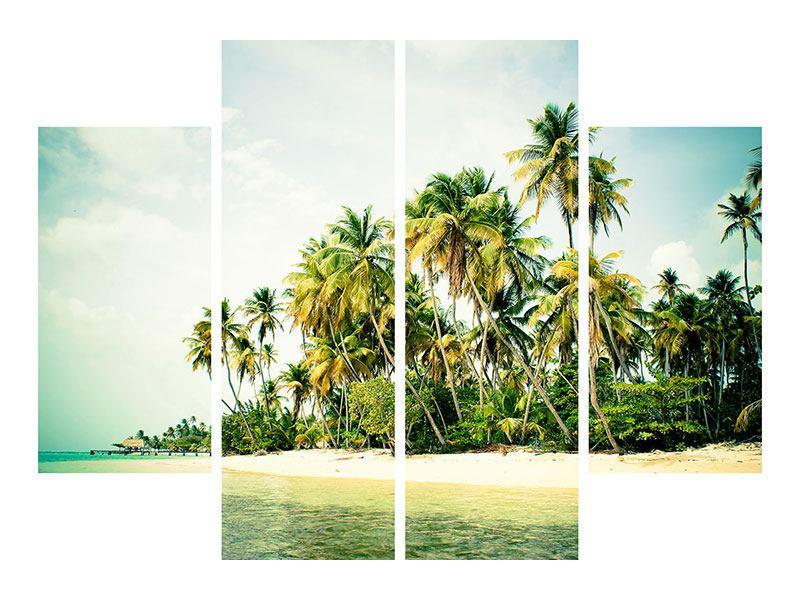 Metallic-Bild 4-teilig Tobago Cays