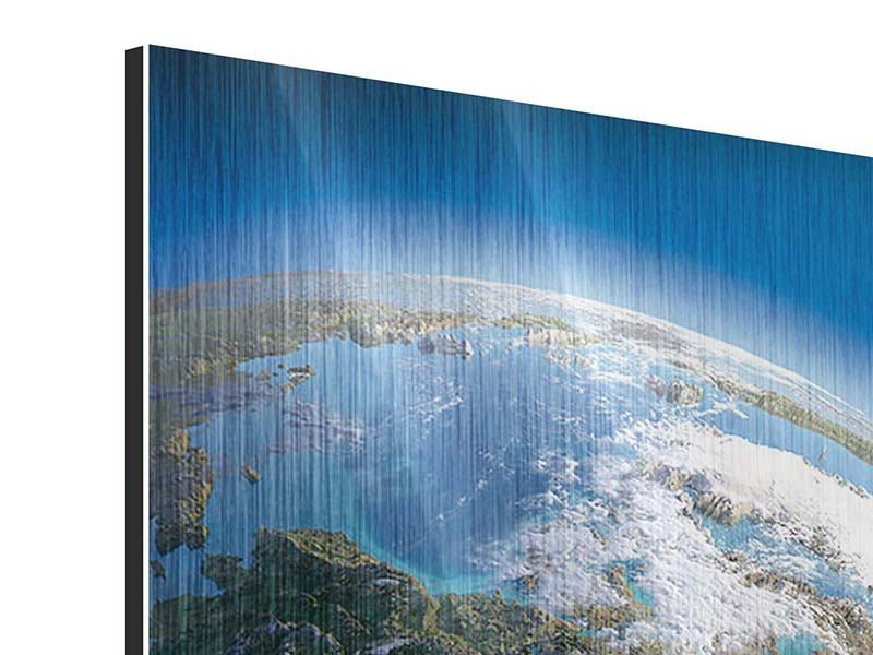 Metallic-Bild 4-teilig Die Erde
