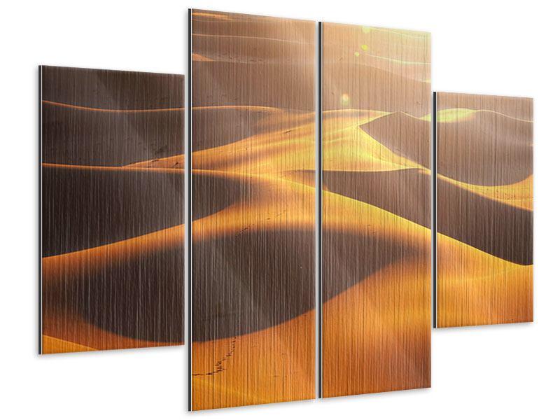 Metallic-Bild 4-teilig Wüstenwanderung
