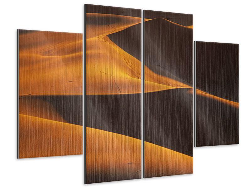 Metallic-Bild 4-teilig Wüstensand
