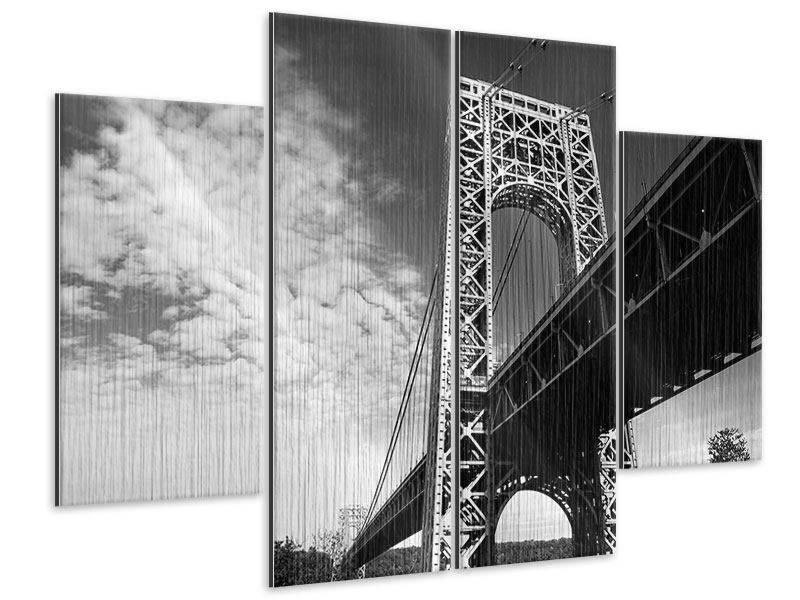 Metallic-Bild 4-teilig Georg-Washington-Bridge