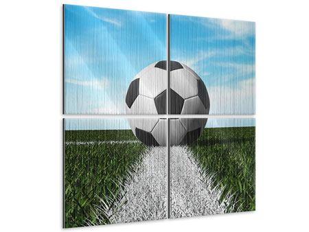 Metallic-Bild 4-teilig Der Fussball