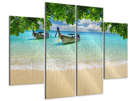 Metallic-Bild 4-teilig Ein Blick auf das Meer