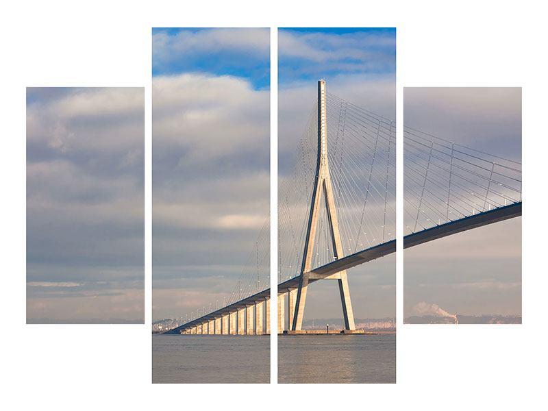 Metallic-Bild 4-teilig Pont de Normandie