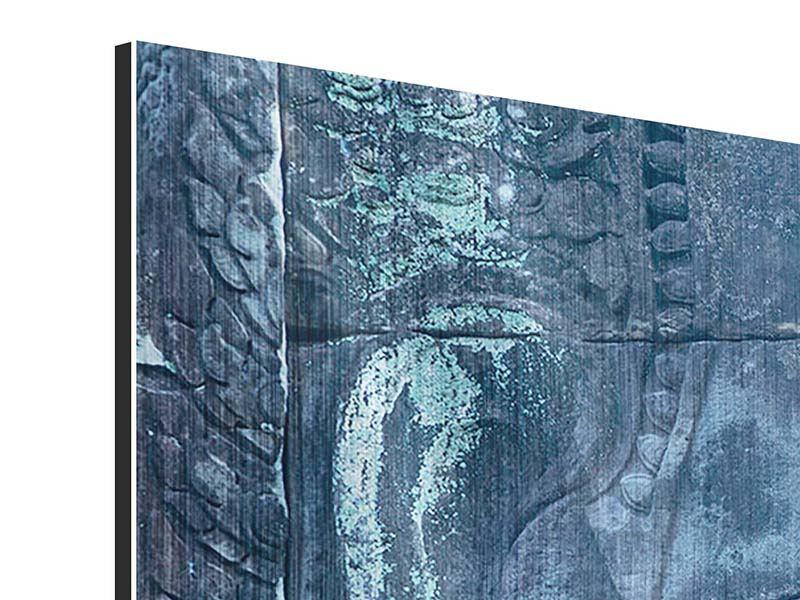 Metallic-Bild 4-teilig Buddha Statur