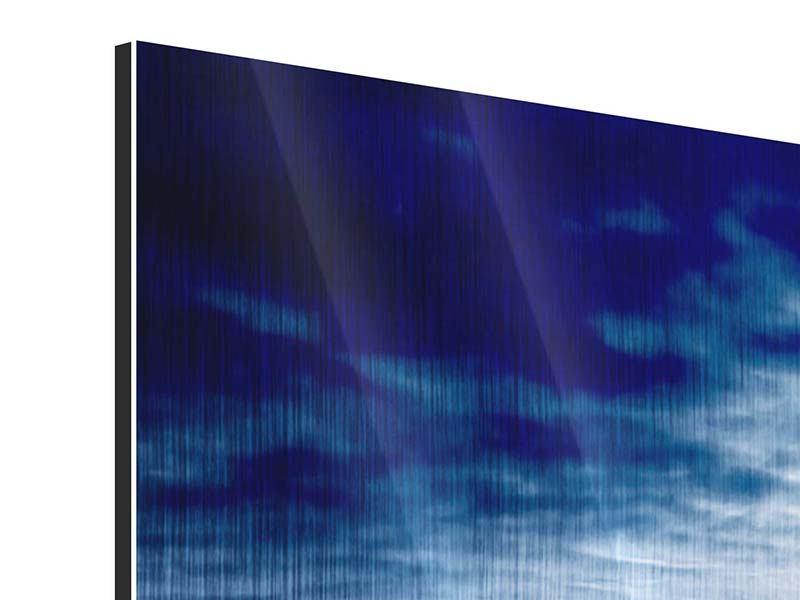 Metallic-Bild 4-teilig Mystischer Himmel