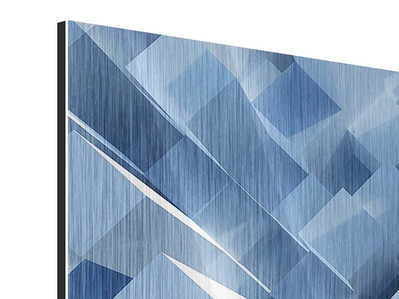 Metallic-Bild 4-teilig 3D-Säulen