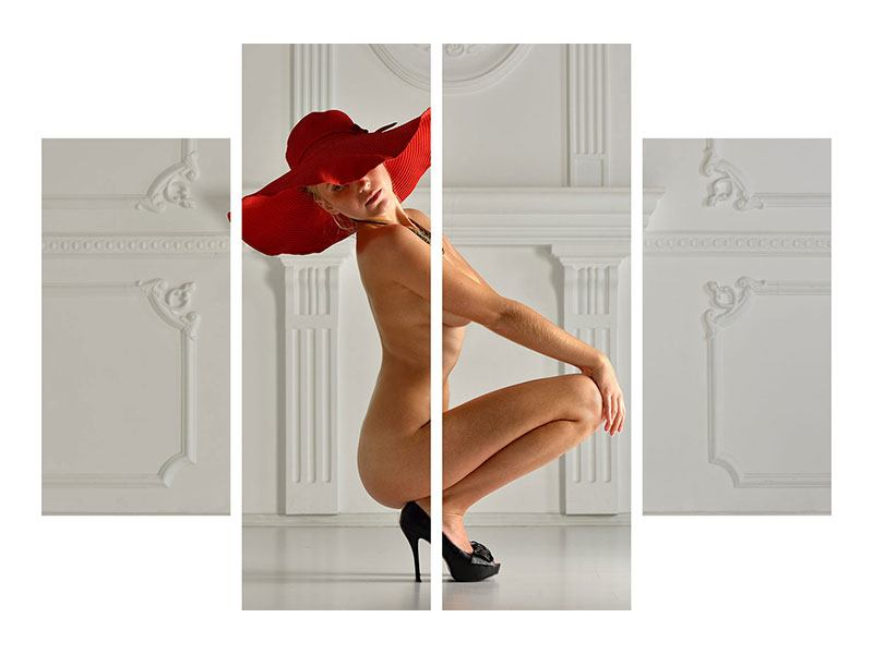 Metallic-Bild 4-teilig Nude-Diva