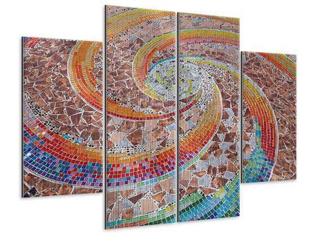 Metallic-Bild 4-teilig Mosaik