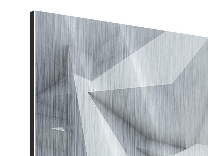 Metallic-Bild 4-teilig 3D-Kristallo